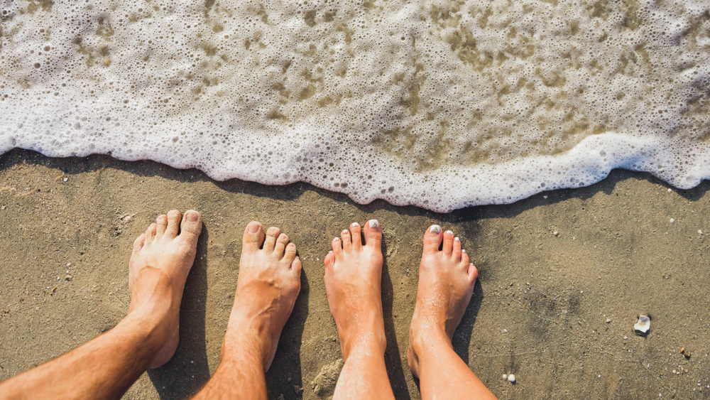 Photo of toes on beach