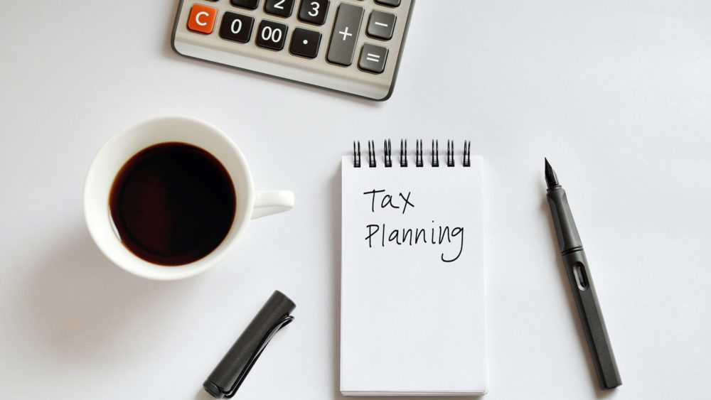Photo of tax planning documents